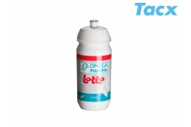 TACX Láhev TACX Pro Teams - Omega Pharma - Lotto 0,5l (bílá)